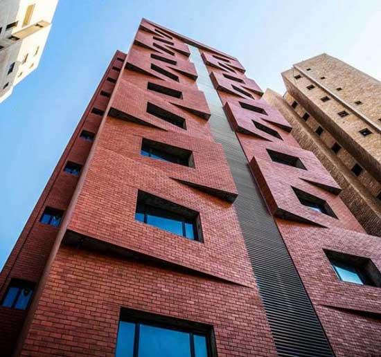 نمای ساختمان آجر قرمز انگلیسی